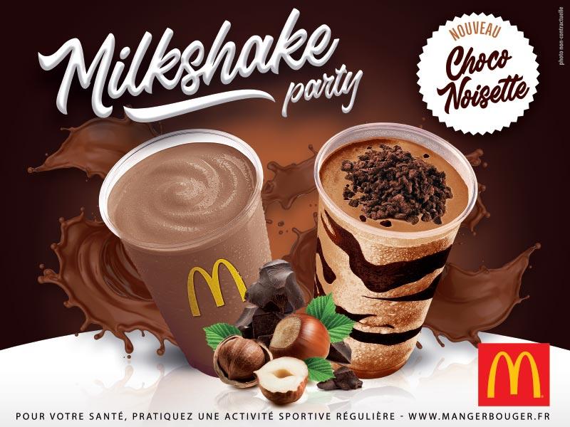Mc Donalds - Affiche Milkshake party
