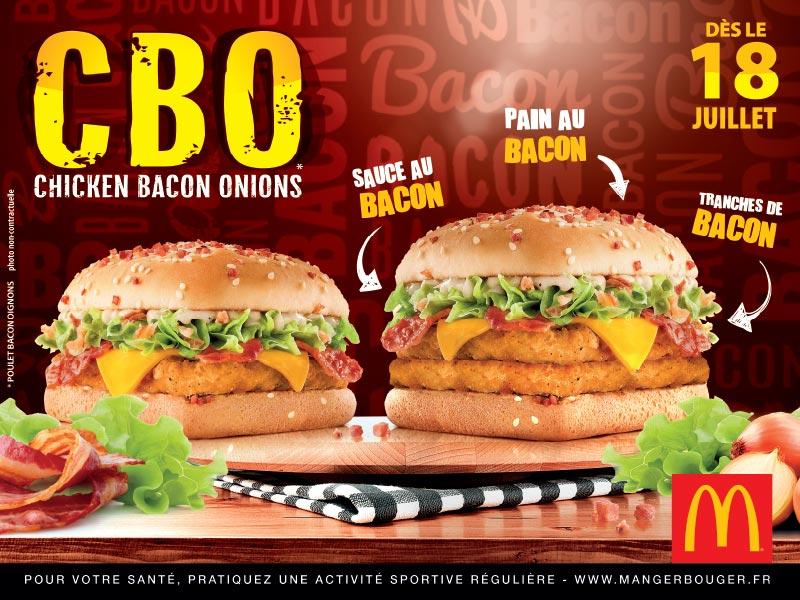Mc Donalds - Affiche CBO Chicken Bacon Onions