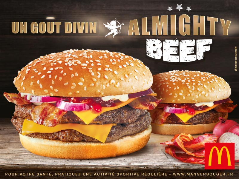 Mc Donalds - Affiche Almighty Beef Burger