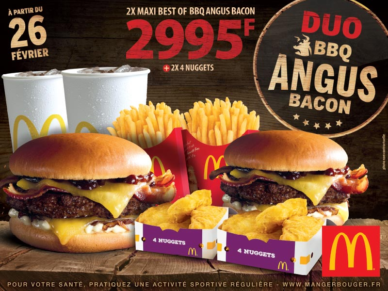 Mc Donalds - Affiche Duo BBQ Angus Bacon Burger