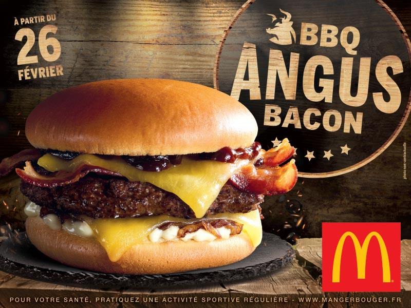 Mc Donalds - Affiche BBQ Angus Bacon Burger