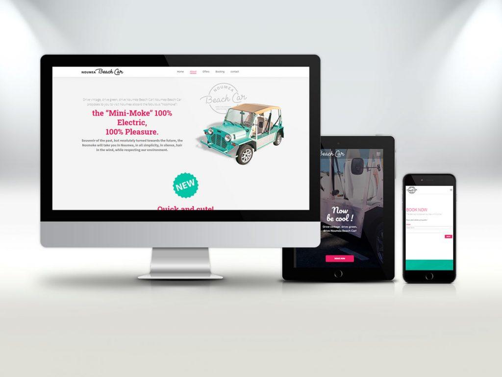 Nouméa Beach Car - Site web