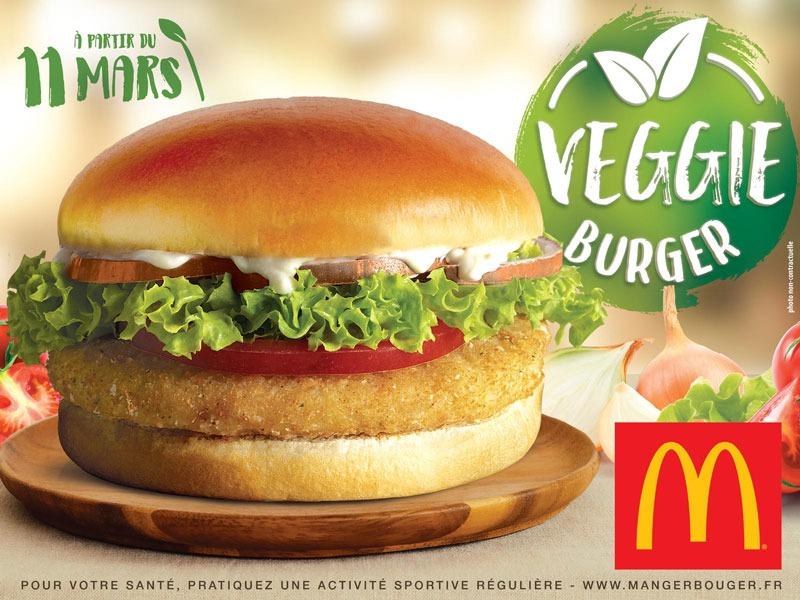 Mac Donalds - Affiche Veggie Burger